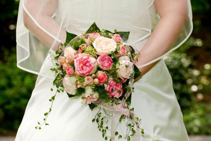 Dekorativer Brautstrauß
