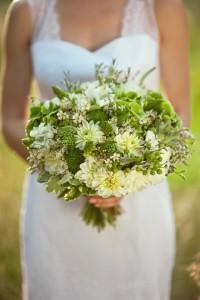Brautstrauss grün gelb