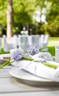 Kugeliges Allium als Tischschmuck