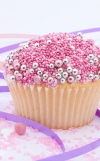 Liebesperlen und rosa Zuckerstreusel