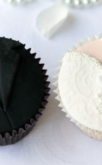 Braut und Bräutigam als Muffins