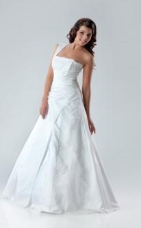 Prinzessinnen-Brautkleid mit einem Träger
