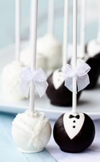 Schokolade als Braut- und Bräutigam