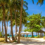 Tropische Strand auf Bali