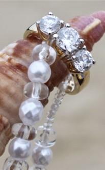 Verlobungsring drei Steine