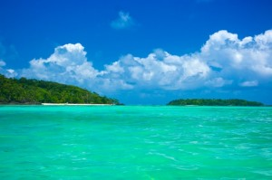 Türkiswasser des Indischen Ozeans vor Mauritius