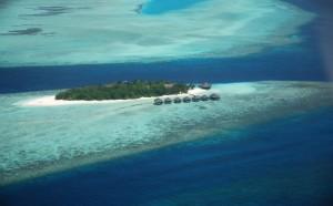 Luftbild der Malediven
