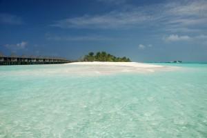 Weißer Strand der Malediven