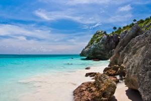 Strand am Kristallmeer vor Mexiko