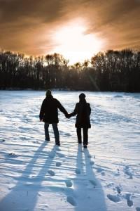 Flitterwochen im Schnee