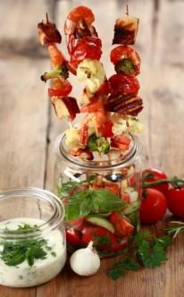 Obst- und Gemüsesnacks