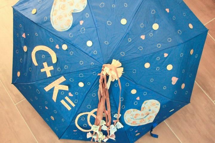 Regenschirm für das Eheleben