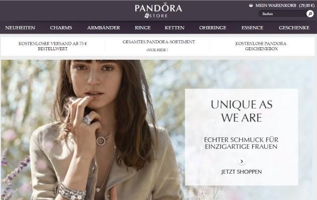 Pandora Onlineshop