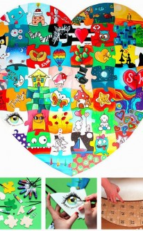 Holz Puzzle Herz