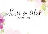 Frühlingshafte Hochzeitseinladungen