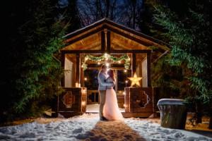 Winterhütte: Schnee und Romantik