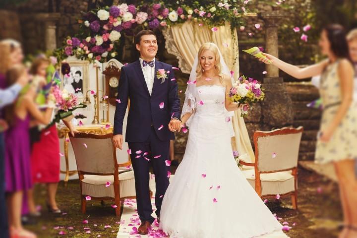 Blauer Hochzeitsanzug