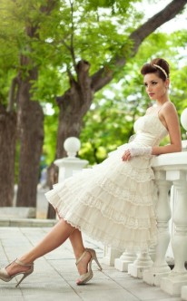 Hochzeitskleid in Champagner