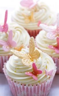 Süße Schmetterlinge Dekorieren Diese Cupcakes