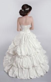 Duchesse Brautkleid von hinten