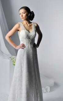 Empire-Brautkleid mit Spitze