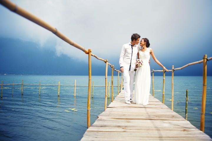 Romantische Hochzeit am See