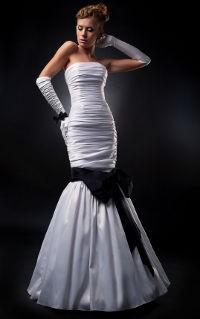 Meerjungfrauenkleid mit schwarzer Schleife