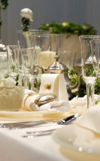 königliche Tischdekoration