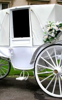 Hochzeitskutsche wie im Märchen