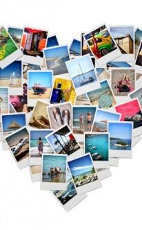 Memory mit Fotos vom Paar