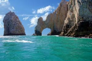 Felsen im Meer vor Mexiko