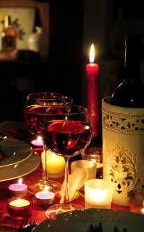 Romantischer Abend bei Kerzenschein