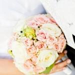 Brautstrauß in Pastell