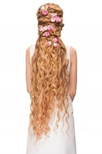 Brautfrisur für langes Haar