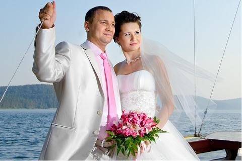 Hochzeit während einer Kreuzfahrt