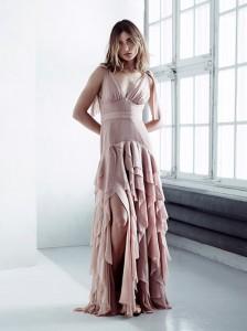 Kleid mit Volants von H&M