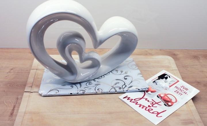 Karte mit Deko Skulptur