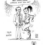 Karikatur als Gastgeschenk für Hochzeitsgäste