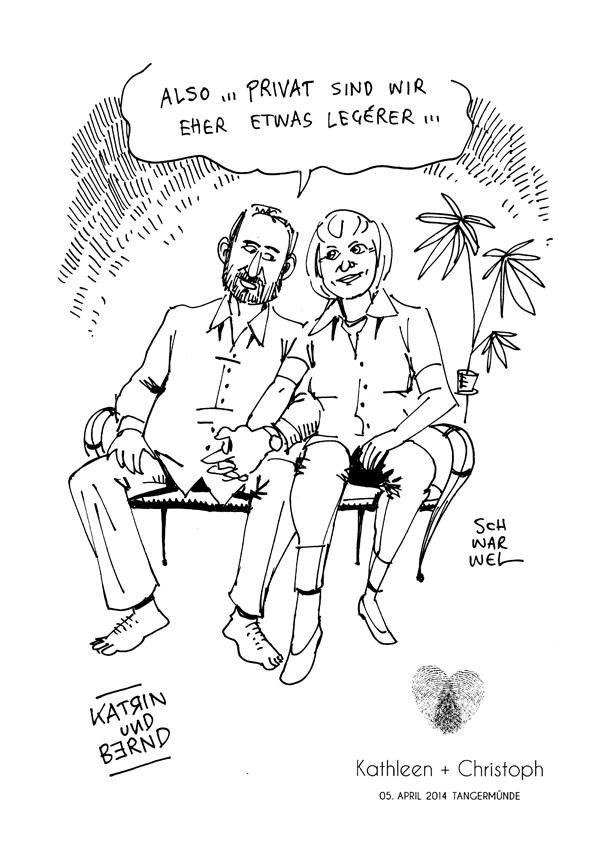 Karikatur Zur Hochzeit Hochzeitskarikaturen Als Geschenk