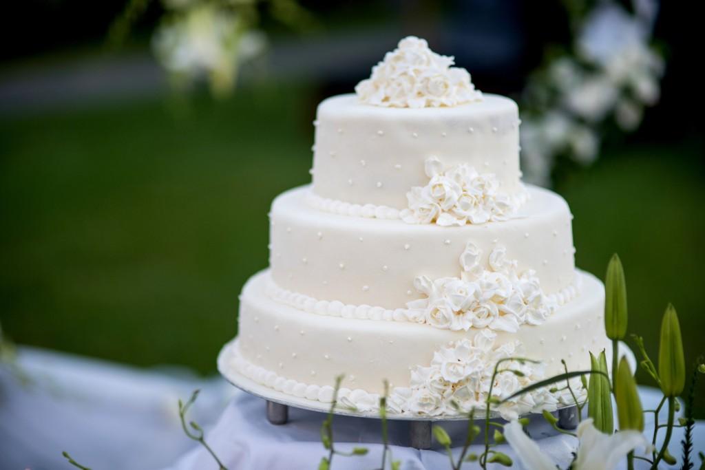 White Wedding Cake Modern
