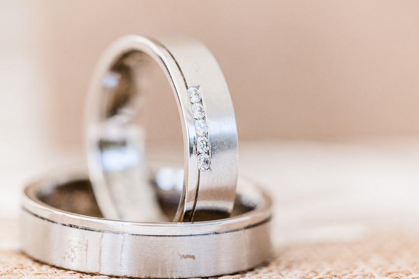 Ehering Silber Diamant
