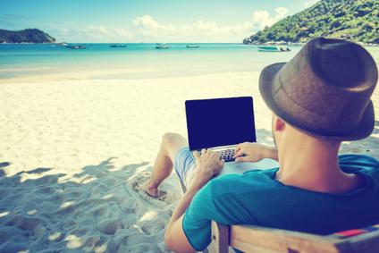 Buchhaltung im Urlaub erledigen