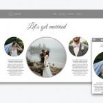 Hochzeitshomepage Template auswählen