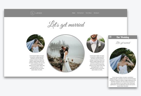 hochzeitshomepage template auswhlen - Hochzeitshomepage Beispiele